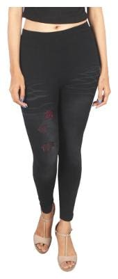 JUBINATION Elastane Leggings - Black