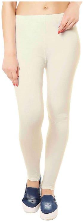 JUBINATION Cotton Leggings - Cream