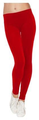 JUBINATION Elastane Leggings - Red