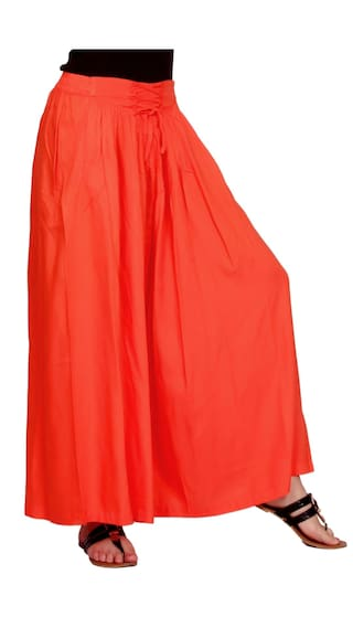 Orange Palazzo Women's Jublee Geathered Rayon 01x1Hq5