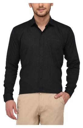 Jugend Men Slim fit Formal Shirt - Black