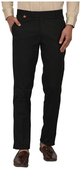Jugend Black Slim fit Casual Trousers for men