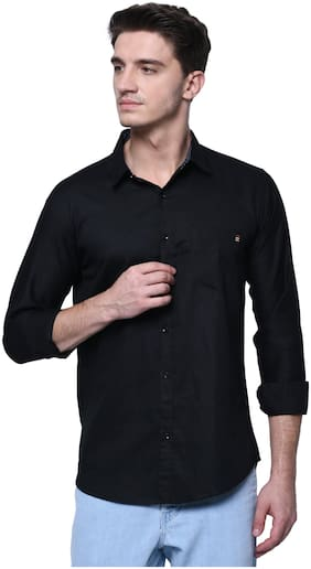 Jugend Men Slim fit Casual shirt - Black