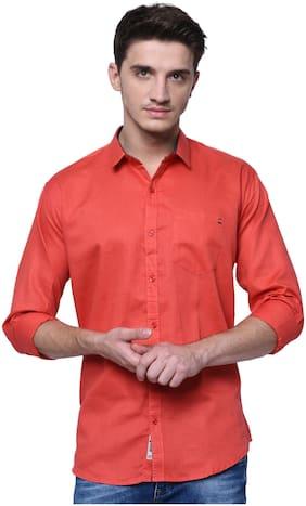 Jugend Men Slim fit Casual shirt - Red