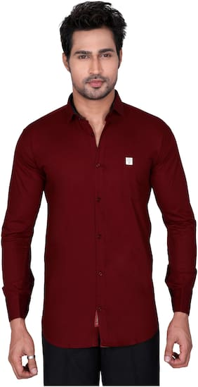 Jugend Men Slim fit Casual shirt - Red
