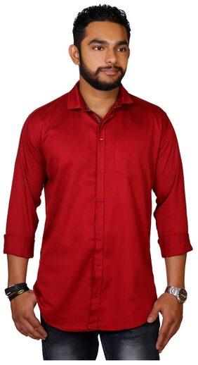 Jugend Men Slim Fit Casual shirt - Maroon