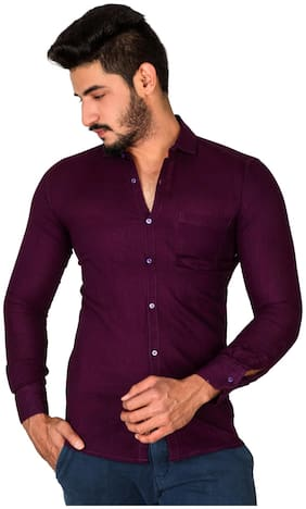 Jugend Men Slim fit Casual shirt - Purple