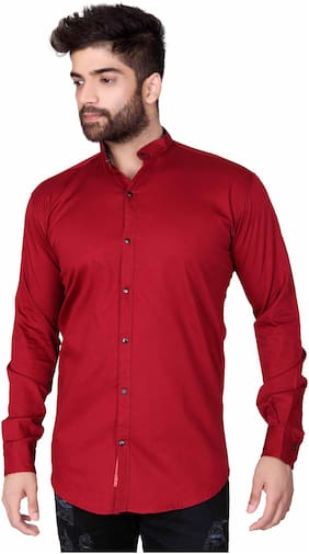 Jugend Men Slim Fit Casual shirt - Maroon
