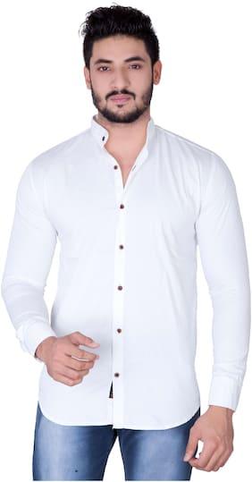 Jugend Men Slim fit Casual shirt - White
