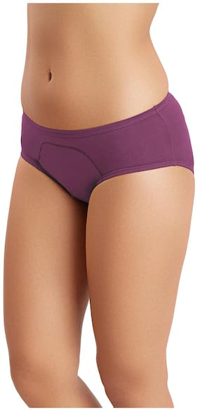 Juliet Pack Of 1 Solid Mid Waist Hipster Panty - Purple