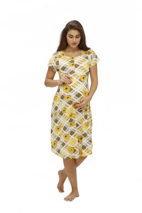 Juliet Women Maternity Dress - Yellow L