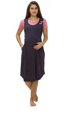 Juliet Women Maternity Dress - Blue Xl