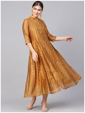 Women Ethnic Motifs Layered Fusion Dresses