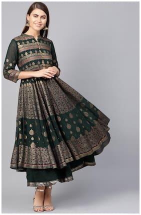 Women Ethnic Motifs Layered Kurti Dress