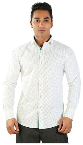 Just Differ Men Slim Fit Casual shirt - White
