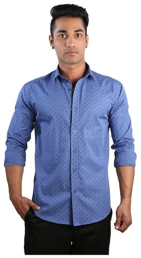 Just Differ Men Slim Fit Casual shirt - Blue