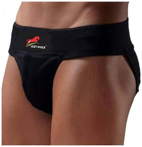 JUST RIDER Solid Briefs - Black ,Pack Of 1