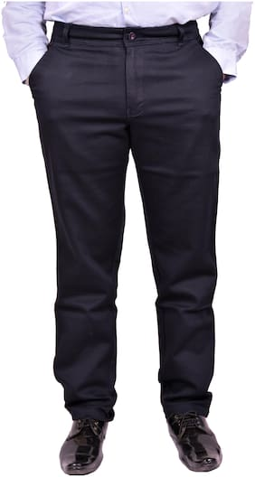 Just Trousers Blue Slim -Fit Flat Chinos