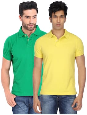 K-TEX SLIMFIT POLO NECK TSHIRT (PACK OF 2)