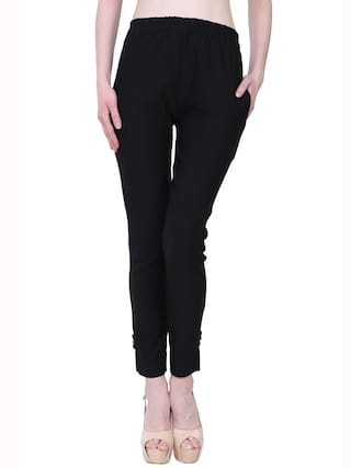 KA Fashion Black Lam Lam Solid Palazzo Pant For Women