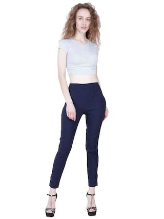 Lam Palazzo Blue Lam For Navy Fashion Solid Women Pant KA 71tYRq