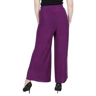 Lycra Fashion KA Women Purple Palazzo amp; Rani Solid For dzwIrTw1q
