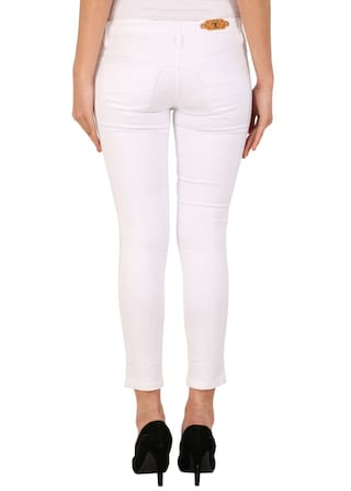 Solid Denim For Women Blue White Fashion Jeans amp; KA ISAXwT11