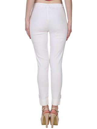 Lam Women Black Palazzo Fashion For amp; Pant Solid White Lam KA nXaSx