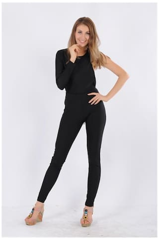 2128fc28380 Buy Kaamastra One Sleeve Black Jumpsuit Online at Low Prices in ...