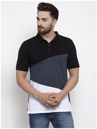 Kalt Men Multi Regular fit Cotton Blend Polo collar T-Shirt - Pack Of 1