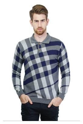 Kalt Men Cotton Sweater - Grey