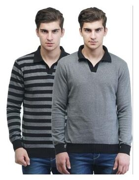 Kalt Men Cotton Sweater - Multi