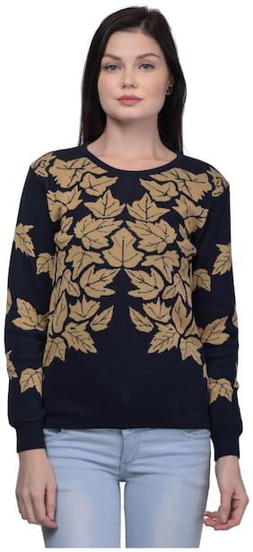 Women Self Design Sweater