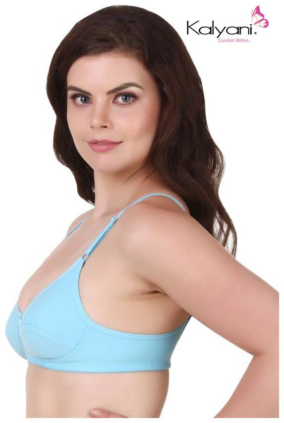887dd6240549e Buy Kalyani Cotton Non Padded Non Wired Medium Coverage Bra (Trisha) - Sky  Blue Online at Low Prices in India - Paytmmall.com