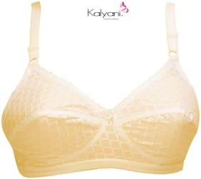 Kalyani Set of 1 Non Padded Cotton Beginners Bra - Cream
