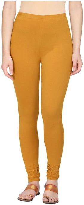 YMV KAPREWALA Cotton Leggings - Yellow