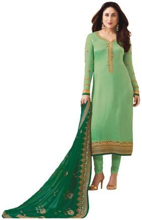 Rahi fashion Georgette Floral Dress Material for Kurta & Bottom - Green