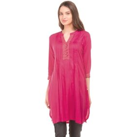 Karigari FUCHIA Women Regular Long Kurta