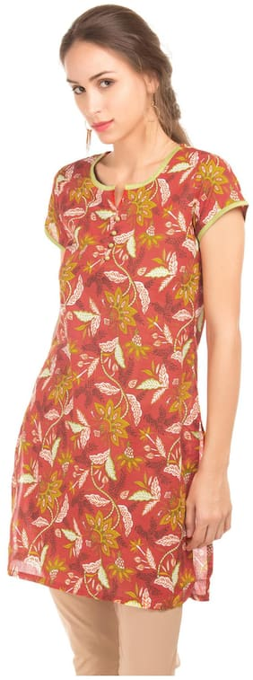 Women Printed Straight Kurti