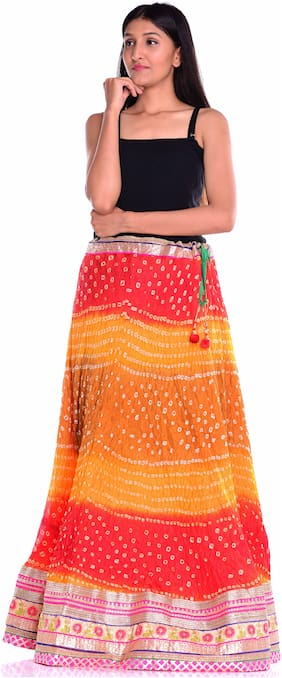 Printed Ethnic Skirt ,Pack Of Pack of 2