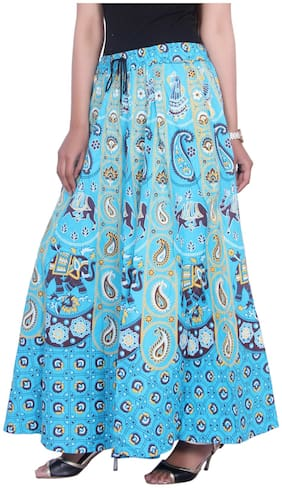 Solid Ethnic Skirt