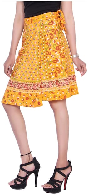 Solid Ethnic Skirt Pack of 1