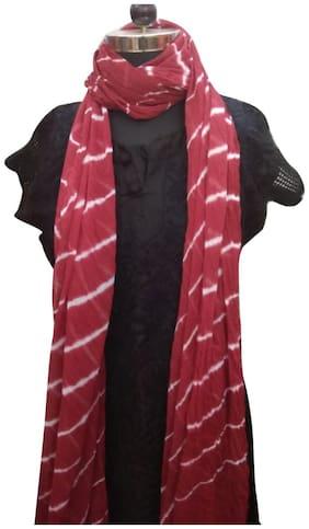 Kastiel Lehariya Chiffon Solid Dupatta/Stole for Girls and Women