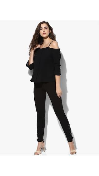 Black Shirts Polyester Kazo Women Kazo Polyester Women Black Shirts qqwTxSzf
