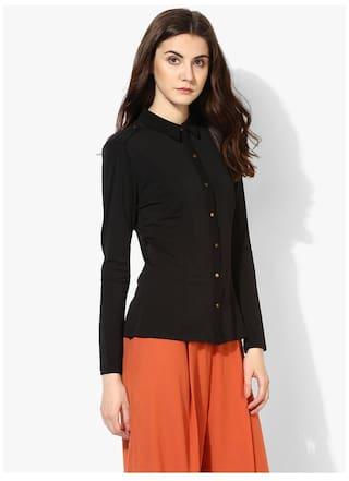 Kazo Polyester Women Kazo Shirts Kazo Black Women Polyester Black Shirts Polyester Shirts Black qHA1XxwHO