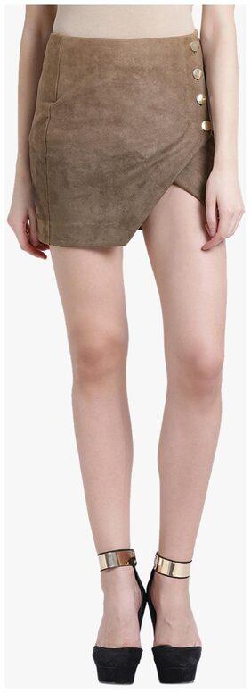 Kazo Solid Bodycon Skirt Mini Skirt - Multi