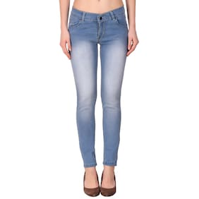 KETEX Women Slim Fit Mid Rise Solid Jeans - Blue