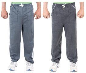 KETEX Men Cotton Track Pants - Grey