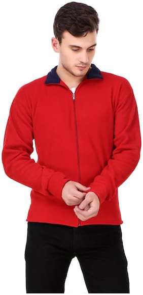 Men Fleece Bomber Jacket