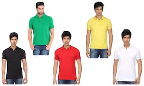 KETEX Multi Slim Fit Polo T Shirt Pack of 5